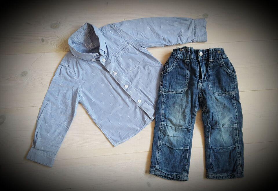 d6e98f07 Sæt, Skjorte og jeans/cowboybukser, Entry og Name It ...
