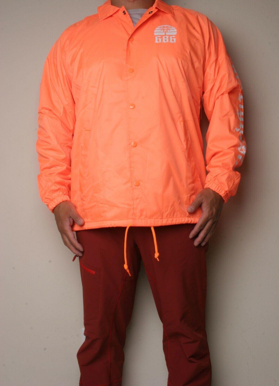 686 Paradise Coach Jacket (L) Orange L8WPHS06-ORG
