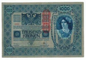 AUSTRIA-HUNGARY-BANKNOTE-1000-KRONEN-1902