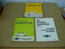 1977 1976 Chevrolet Chevette supplement service shop dealer repair manual
