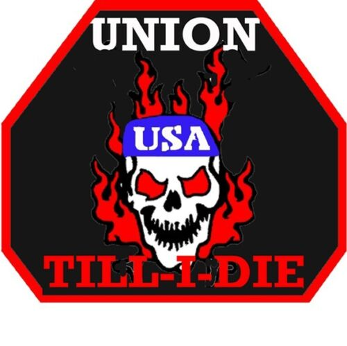 CU-11 skull and flames Union till i die
