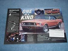 "1967 Mustang GT Convertible Article ""One fo a Kind"""