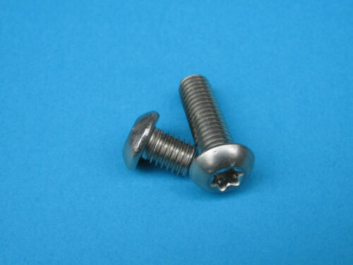 10 x Lenti vite ISO 7380 TX acciaio inox VA CACCIAVITI Testa a lente lenti vite