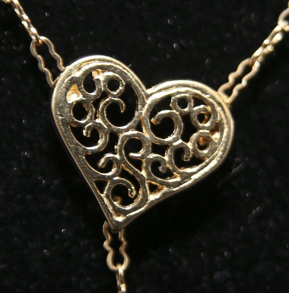 San Valentino  14ct oro HEART-Coltivate Acqua Salata Perla Perla Perla Ciondolo Collana Nuova b8911a