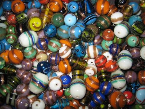 Cuentas de vidrio Mix//perlas Mix//Lampwork perlas mezcla 300g diferentes tamaños