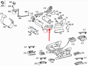 MB-Clase-S-W220-Cubierta-de-asiento-delantero-izquierdo-Adorno-A22091813307D43-Nuevo-Original