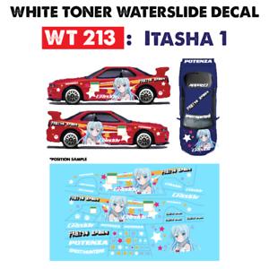 Wt213 White Toner Waterslide Decals Ltasha1 For Custom 1 64 Hot Wheels Ebay