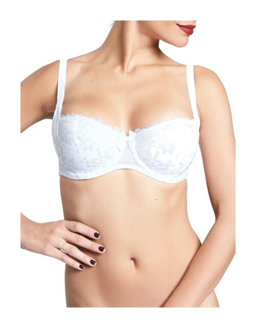 Passionata By Chantelle White Nights Demi Cup Bra 4065 Purple Non Padded NEW