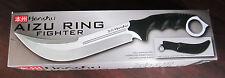 Honshu AIZU RING FIGHTER KNIFE W/ Leather Belt Sheath IN BOX UC3010