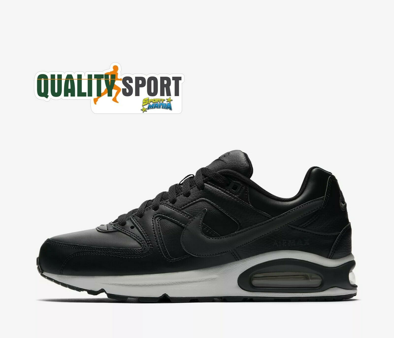 Nike air max command black leather sports shoes men sneakers 749760 001