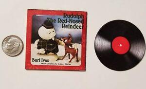 "American Girl Christmas album Barbie  1/6   Playscale 2"" Rudolph Reindeer Red Br"