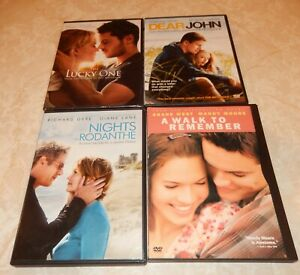 Lot-of-4-Nicholas-Sparks-Dear-John-Lucky-One-DVD-2012-WS-FS-Rodanthe-Walk