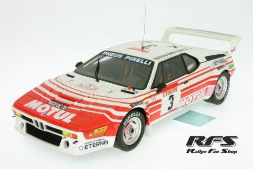 Bmw m1 Motul Rally Tour de Corse 1983 bernard Beguin 1:18 Otto ot126 nuevo embalaje original