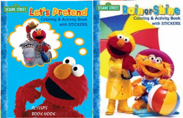 Rain Or Shine Sesame Street Coloring Activity Book With Stickers