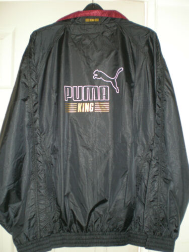 NEW PUMA King Shell Jacket Black with Red Lining XL Elasticated Waist & Pochette afficher le titre d'origine