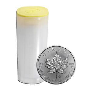 25 x 1 oz Silber Maple Leaf Verschiedene Jahrgänge - Kanada Silbermünze 999,9