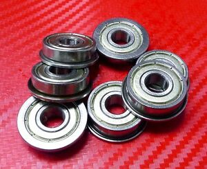 4PCS Stainless Flanged Ball Bearing Bearings F698zz 8*19*6 8x19x6 mm SF698zz