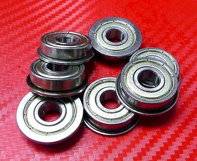 Metric Metal FLANGE Ball Bearing 12*28*8 F6001z 12x28x8mm 25pcs F6001zz