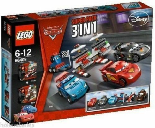 LEGO ® Cars 66409 sp 9485 + 9478 + + + 8201 course FRANCESCO BERNOULLI NEUF NEW bd8952
