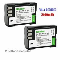 2x Kastar Battery For Olympus Ps-blm1 C-5060 C-7070 C-8080 E-1 E-3 E-30 E-520
