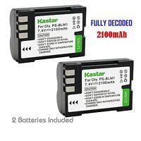 2x Kastar Battery For Olympus Ps-blm1 C-5060 C-7070 C-8080 E-1 E-3 E-30 E-520