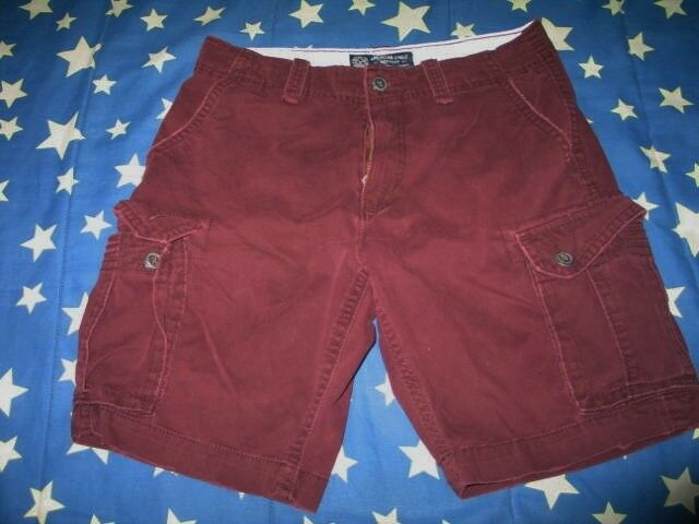 American Eagle Outfitters Men Burgundy Cargo Short size 33