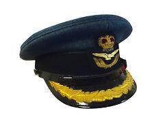 ROYAL AIR FORCE GROUP CAPTAIN PEAKED CAP - 54CM - RARE - GRADE 1 - RAF - Z644