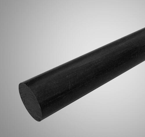 """US Stock 3pcs 46.5mm Diameter 13/"""" Long PA6 Nylon Round Rod Stick Bar Stock Black"""