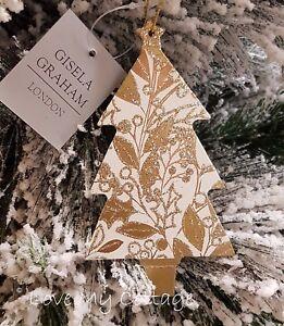 image is loading gisela graham christmas tree decoration sparkling rose gold