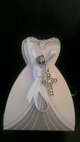 """Beautiful Sterling silver 16/""""necklace with  Celtic Cross 1st Communion gift box"""