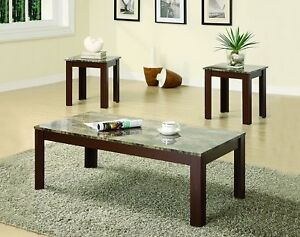 Table Set Modern Coffee Sofa End Two Tv Stand Living Room Couch