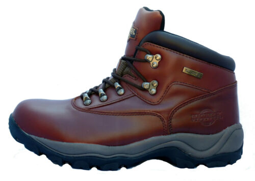 Mens Brown Leather Northwest Territory Walking Hiking Trekking Boots UK 9-12
