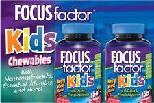 2 Bottles Of 150 FOCUSfactor Kids, Chewable Tablets