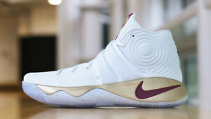 056ed8c43f7b Nike Kyrie 2 Game 3 Championship Finals PE White Gold Size 15 ...