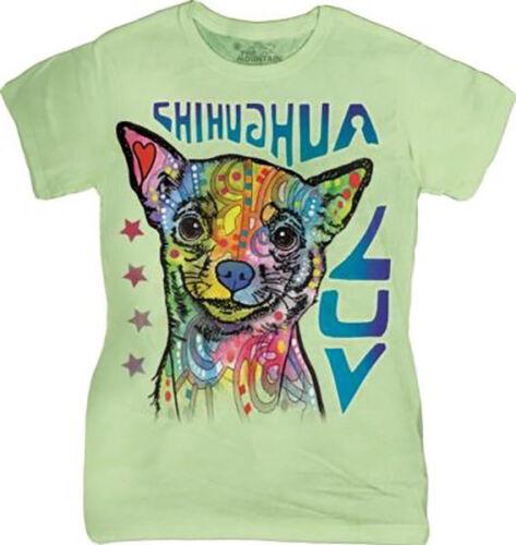 Ladies Cotton Big Face Animal Dog T-Shirt by The Mountain UK 6-22