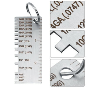 Image Is Loading Wire Gauge Thickness Measuring Tool Sheet Metal