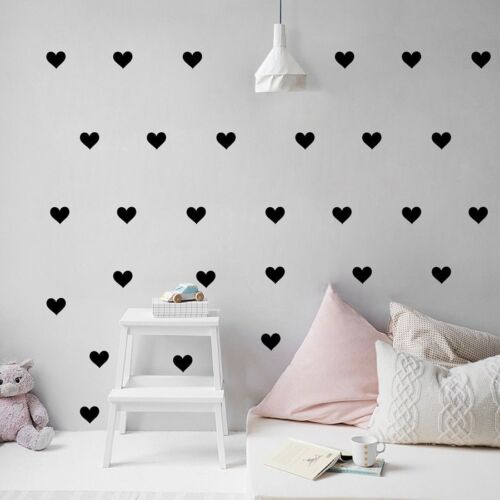 Little Corazones Pegatinas de pared removible Hogar Decoración calcomanías de papel pintado habitación chica