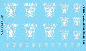 opaque Scale Custom Waterslide Decals Star Wars Mandalorien Logos blanc