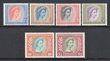 Rhodesia & Nyasaland SC# 150-5(SG#10-15) MH(6) High Value QE II Set Issued 1954/