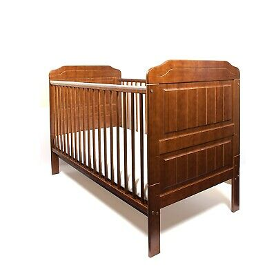 Optional Mattress 140x70x10 Solid Wood Stanley Walnut Baby Cot Bed Junior Bed