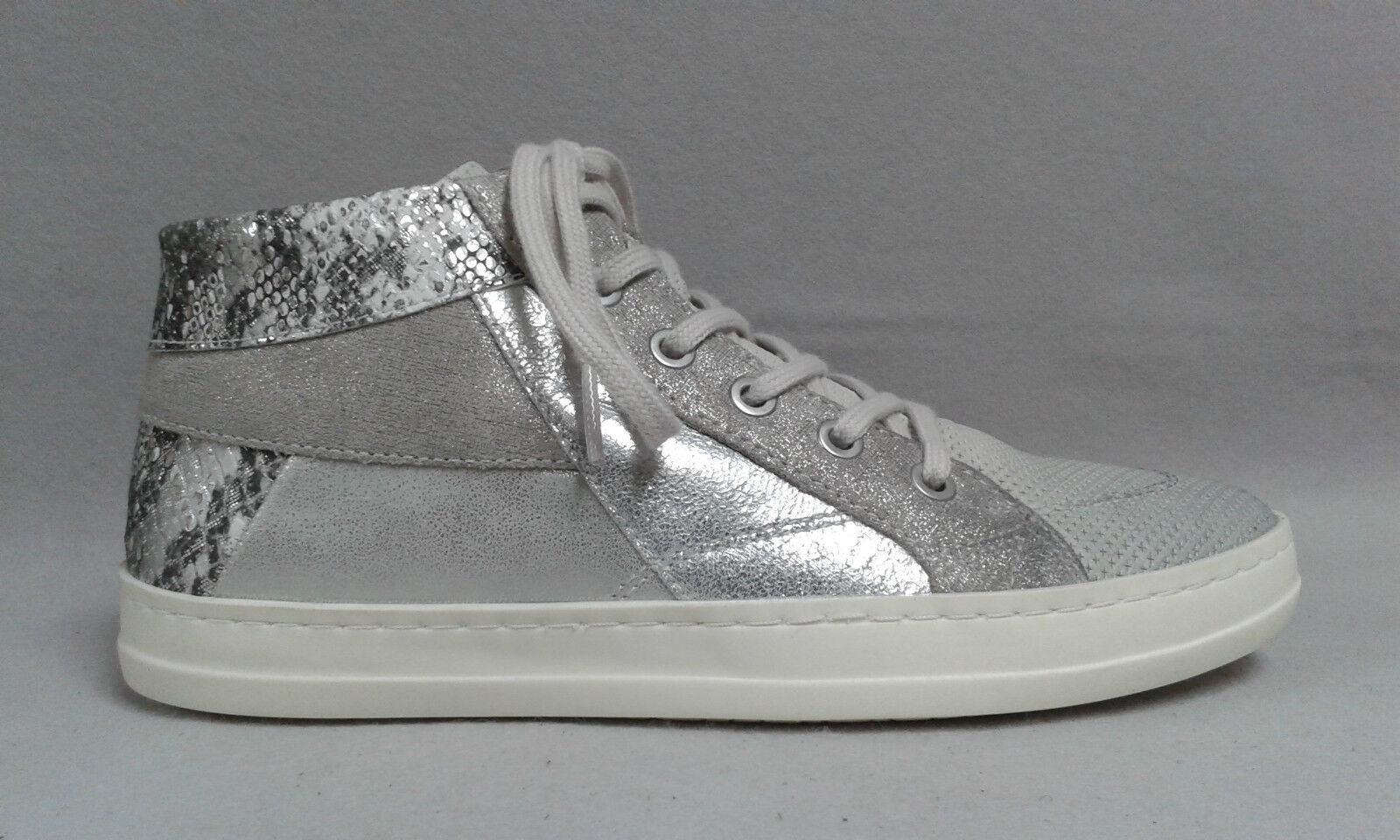 Minu Stiefel Stiefel grau silber Echtleder Reißverschluß beqeuem Lederdecksohle 5