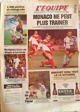 L'Equipe Journal du 22/09/1994; Monaco/ OM/ Magic Johnson/ Trophée Lancôme