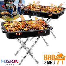 Portable BBQ Grill Barbecue Charcoal Outside Smoker Patio Camping Trip Cooking