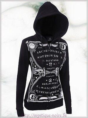 Gothic Ouija Witch Bord Hoodie Jacke Kapuze schwarz Horror Punk schwarz okkult