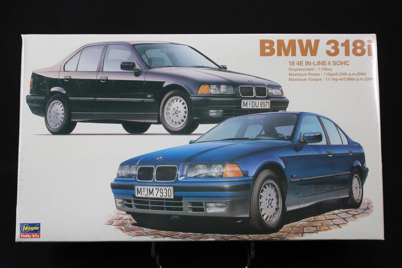 XO033 HASEGAWA 1/24 maquette voiture 24016 CD016 2000 BMW 318i metallic blu
