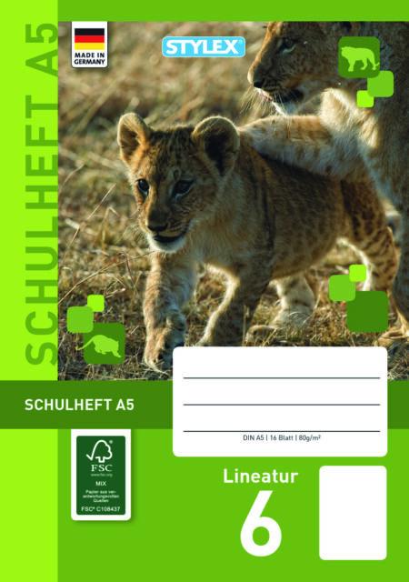 blanco DIN A5 je 16 Blatt  Klasse Schulheft heft blanko 2 Schulhefte Lineatur 6