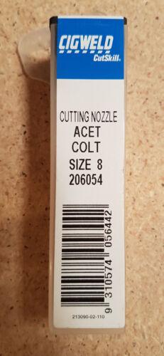 Acetylene Type 41 Size 8 New Cigweld Cutskill 206054 Cutting Nozzle Oxy