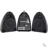 Peavey Pvi Portable 300-watt 8-channel Powered Pa Sound System With Built-in Fx