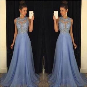 official photos cheap for discount uk store Details about Women Formal Lilac Lace Prom Dress Evening Party Cocktail  Bridesmaid Gown Dress