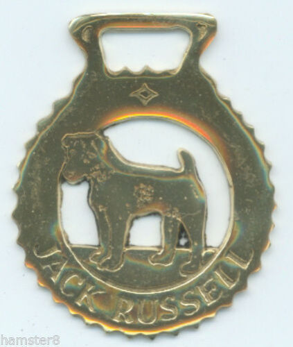 I always combine shipping JACK RUSSELL      Horse brass N589